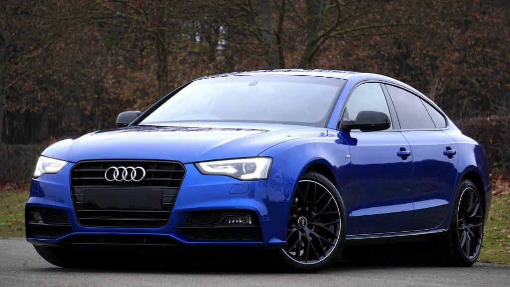 Audi bleu Luxembourg